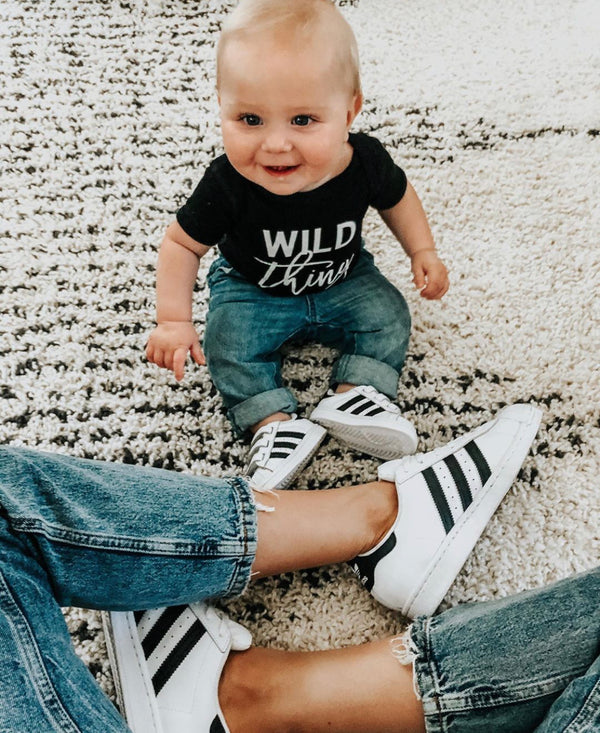 Find Me Where the Wild Things Are | Blush w/Black Adult + Black w/White Child | Set of 2 Shirts