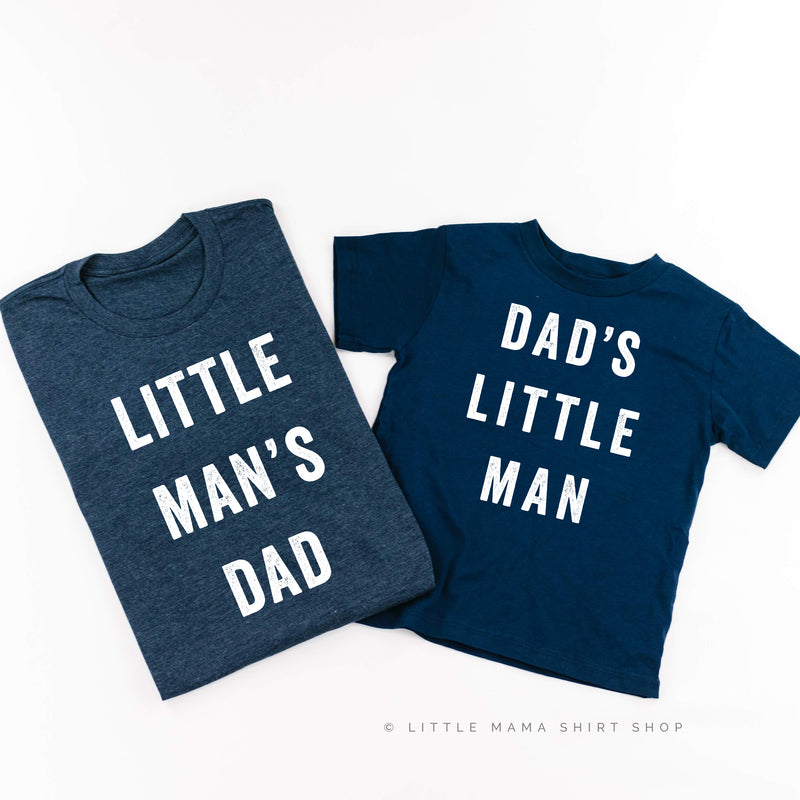 Dad's Little Man / Little Man's Dad - Set of 2 Shirts