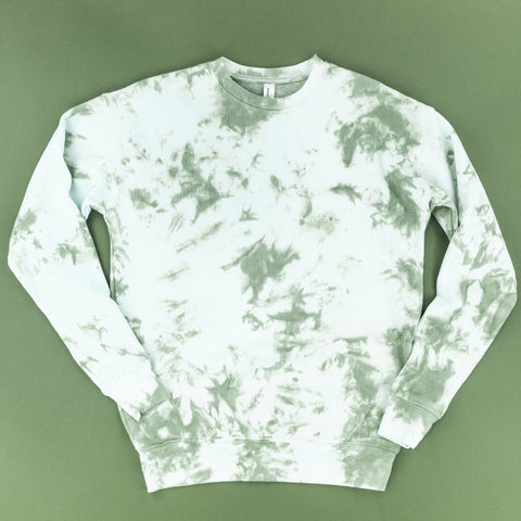 SAGE GREEN ADULT TIE-DYE SWEATSHIRT