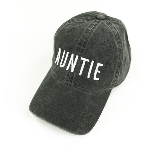 AUNTIE - Heather Black Baseball Cap