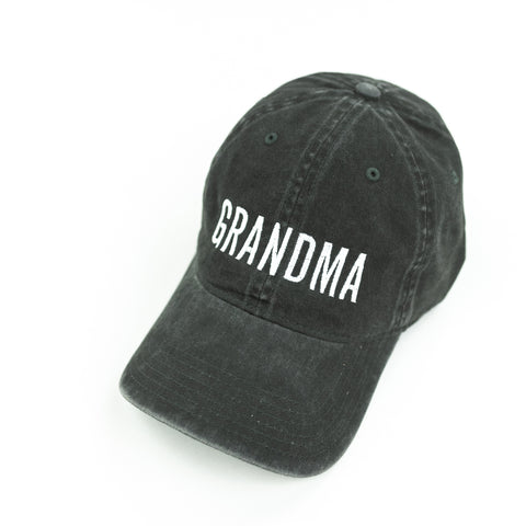 GRANDMA - Heather Black Baseball Cap