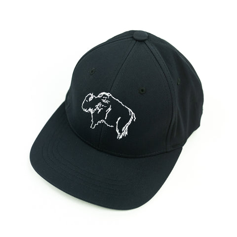 Buffalo (Black) - Child Size - Flat Brimmed Hat