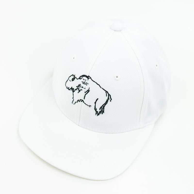 Buffalo (White) - Child Size - Flat Brimmed Hat
