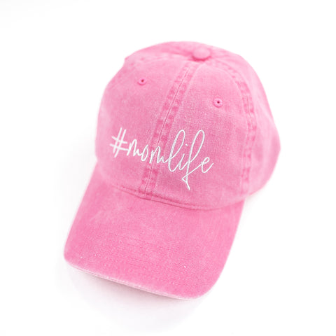 #MomLife - Raspberry Baseball Cap