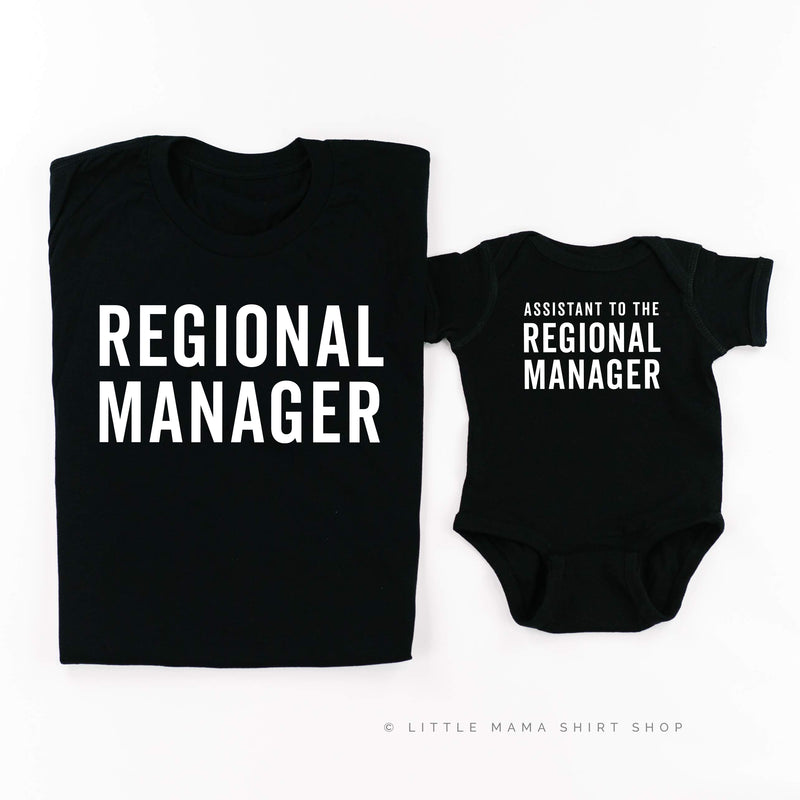Assistant to the Regional Manager / Regional Manager - Set of 2 Shirts