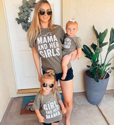 Just a Mama and Her Girls - Set of 3 Shirts