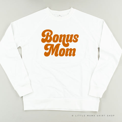 Bonus Mom (Retro) - Lightweight Pullover Sweater