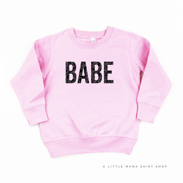 BABE - Leaf Detail - Child Sweater