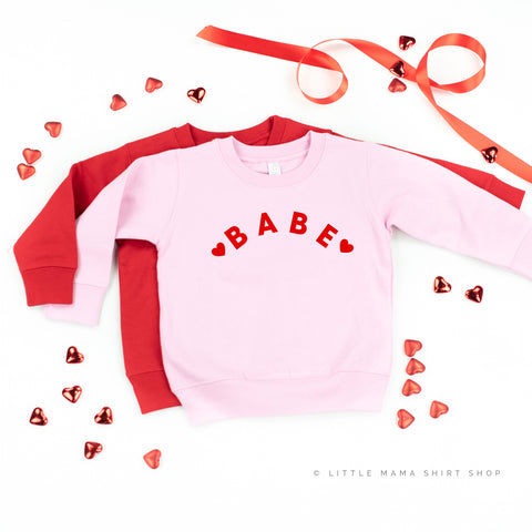 Babe - Child Sweater (Pink or Red)