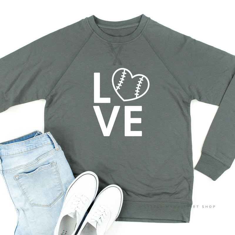 Baseball Love - Lightweight Pullover Sweater