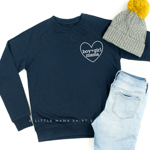 Boy + Girl Mama ♥ - Lightweight Pullover Sweater