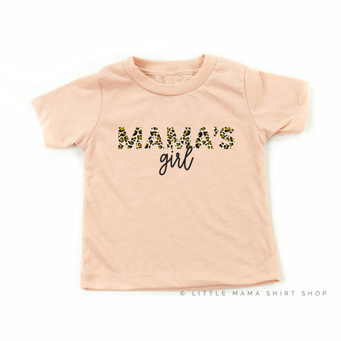 Mama's Girl - Limited Edition Leopard Design! - Child Shirt - Blush