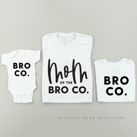 Mom of the Bro Co + Bro Co | Set of 3 Shirts