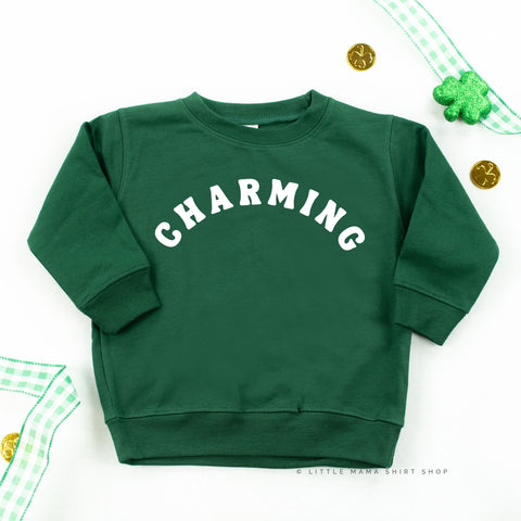 CHARMING - Forest Green - Infant + Toddler Size Sweater