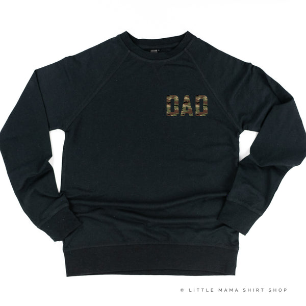 CAMO DAD - Pocket Size Design - Lightweight Pullover Sweater