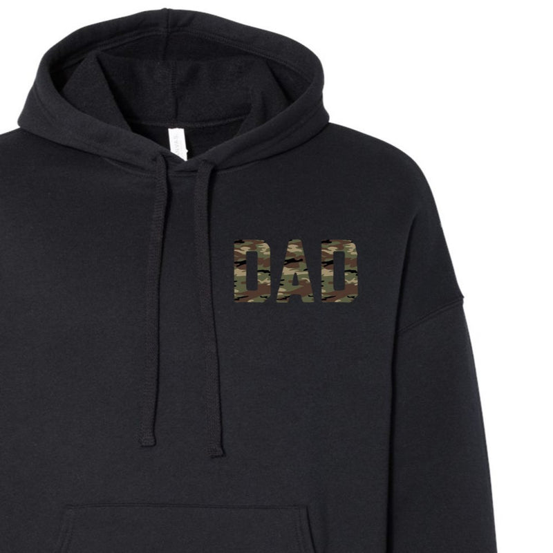 CAMO - FLEECE HOODIE - (Mama or Dad Option)