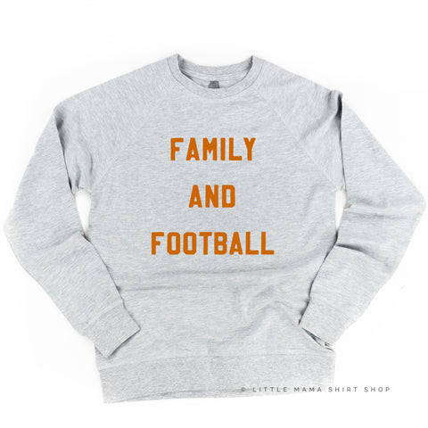 Family and Football - Lightweight Pullover Sweater