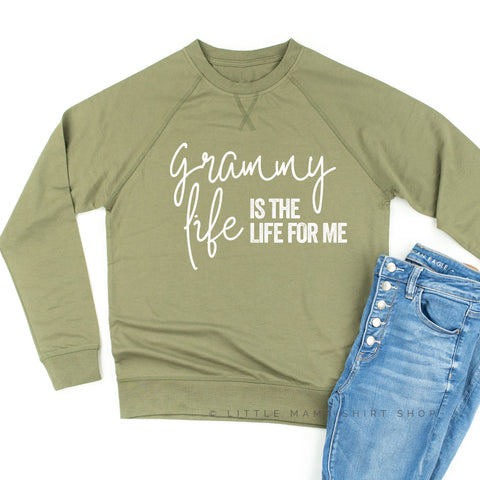 Grammy Life is the Life for Me - Lightweight Pullover Sweater