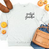 Grateful Grandma - Lightweight Pullover Sweater