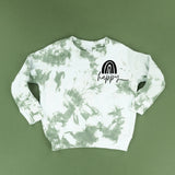 SAGE GREEN CHILD TIE-DYE SWEATSHIRT