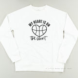 My Heart is on the Court - Lightweight Pullover Sweater