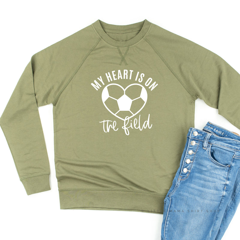 My Heart is on the Field (Soccer) - Lightweight Pullover Sweater