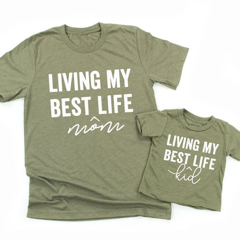 Living My Best Kid/Mom Life | Set of 2 Shirts