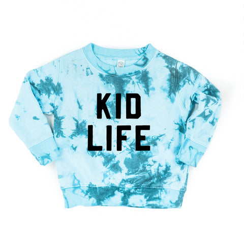 WINTER BLUE CHILD TIE-DYE SWEATSHIRT