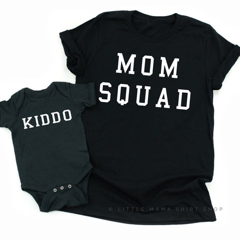 Mom Squad & Kiddo | Set of 2 Shirts (Black)