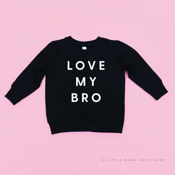 Love My Bro - Child Sweater (Red Design)