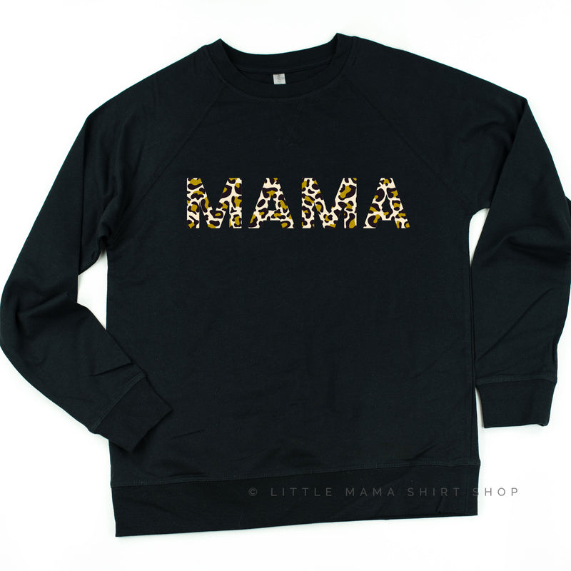 Mama - Limited Edition Leopard Design! - Lightweight Pullover Sweater