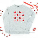 MAMA x 4 (Pink and Red) -  Lightweight Pullover Sweater