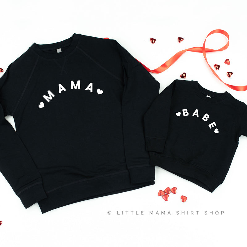 ❤️ MAMA/BABE ❤️ - Set of 2 Sweaters