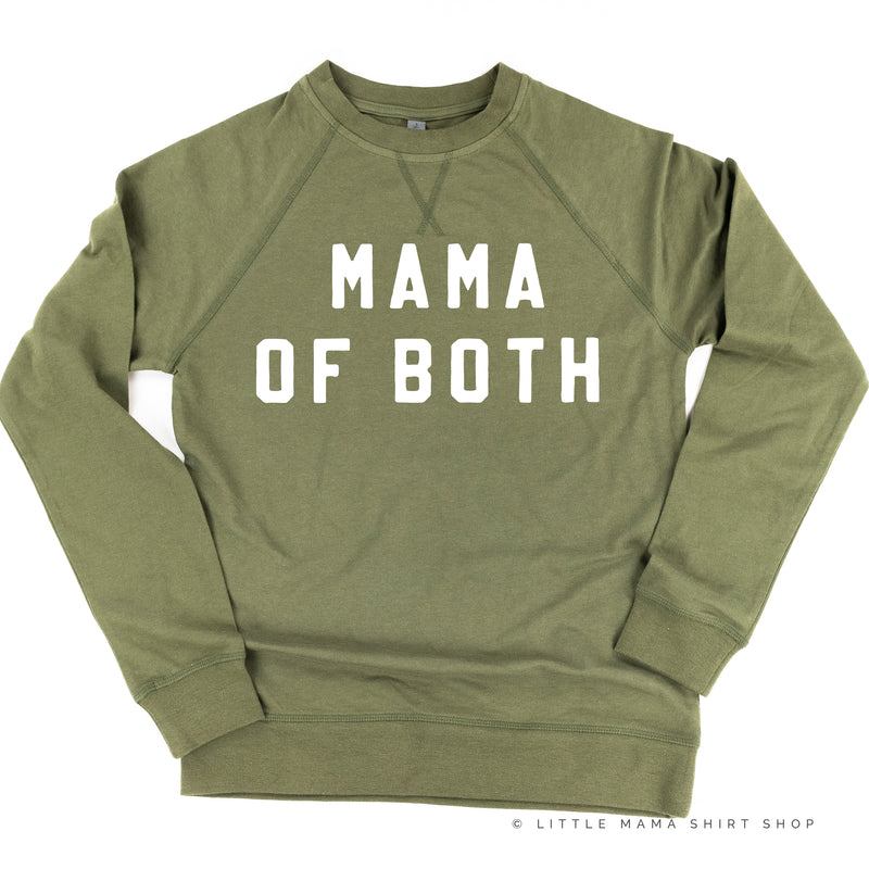 MAMA OF BOTH - (Block Font) - Lightweight Pullover Sweater