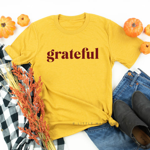 Grateful - Maroon Design