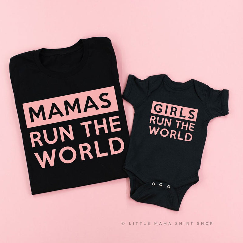 Mamas / Girls Run the World | Set of 2 Shirts