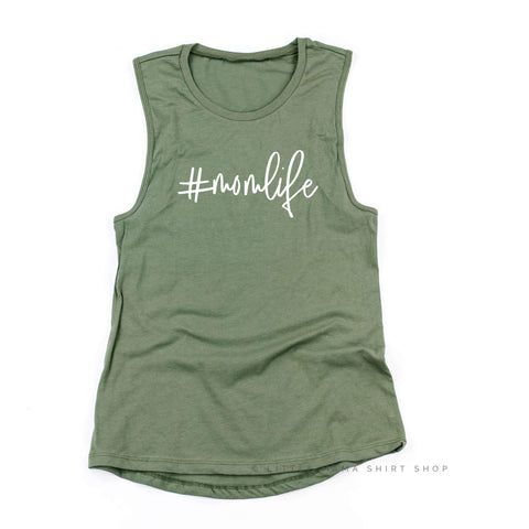 #MomLife - Women's Muscle Tank