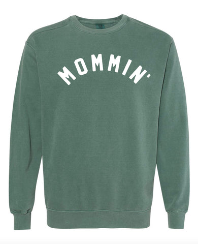 MOMMIN - DARK GREEN - Vintage Heavyweight Sweatshirt