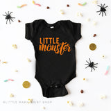 Raising A Little Monster - Unisex T Shirt & Child Shirt w/ Orange Design