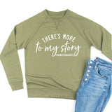 There's More to My Story #MamaToAnAngel (Singular) - Lightweight Pullover Sweater