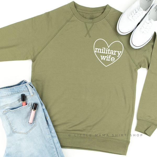 Military Wife ♥ - Lightweight Pullover Sweater
