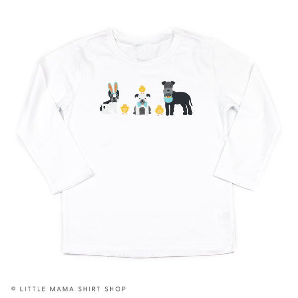 Easter Pups - White Long Sleeve Child Shirt