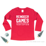 Reindeer Games Team Captain - Long Sleeve Child Shirt