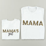 Mama & Mama's Girl - Set of 2 - Limited Edition Leopard Design! - White