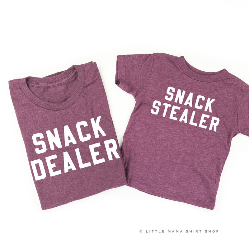 Snack Dealer / Snack Stealer - Set of 2 Shirts