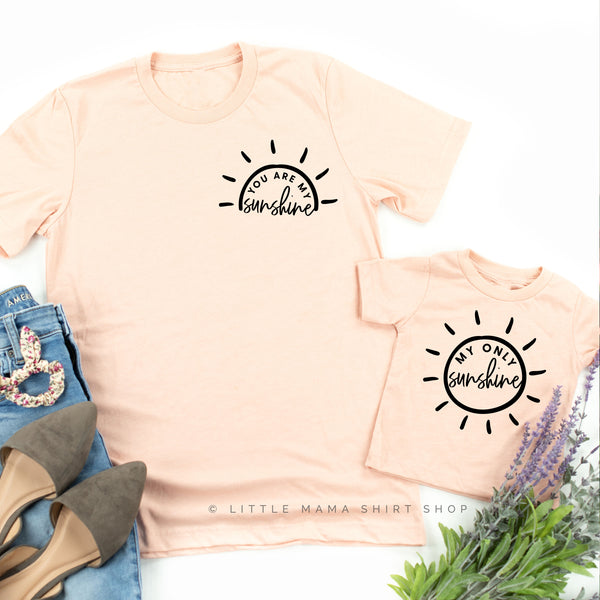You are My Sunshine My Only Sunshine | Set of 2 Shirts