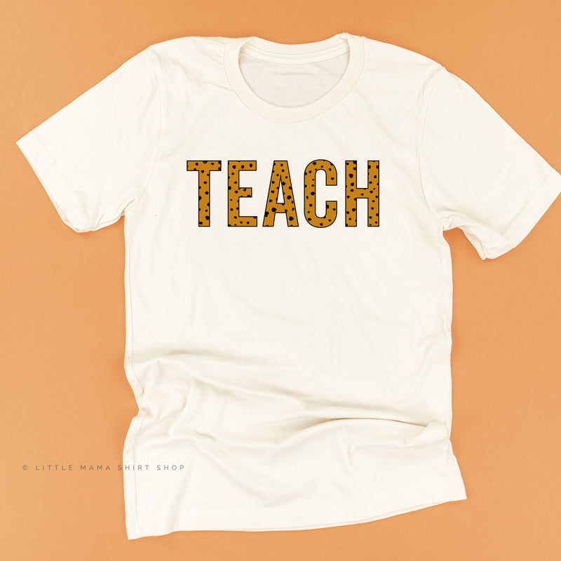 TEACH (Spotty Leopard Design) - Unisex Tee