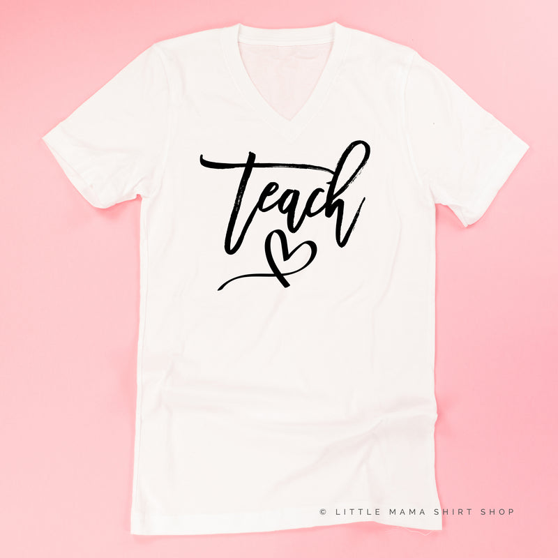 Teach - Heart Below - Unisex Tee