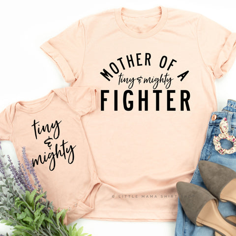 Tiny and Mighty Fighter | Set of 2 Shirts (Blush)