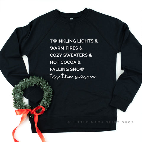Twinkling Lights & Warm Fires...Tis the Season - Lightweight Pullover Sweater